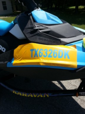 Registration Number Stickers won't stick - Sea-Doo Spark Forum